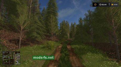Дорога в лесу на карте Nicolonia