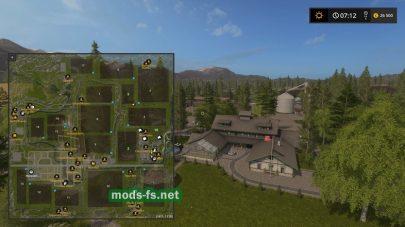 Схема карты «Pine Cove Farm»