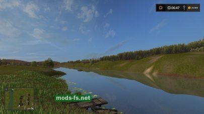 Речка на карте «Село Курай» в игре FS 2017