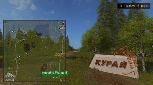 Схема карты «Село Курай»