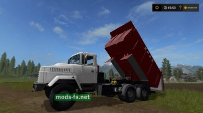 Грузовик КРАЗ-65055 для Farming Simulator 2017