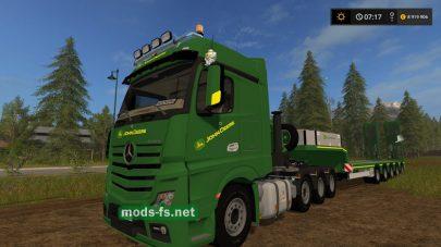 Мод тягача Mercedes-Benz для игры Farming Simulator 2017