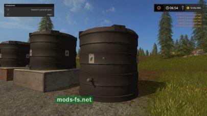 Емкость для хранения жидких удобрений в игре Фермер Симулятор 2017