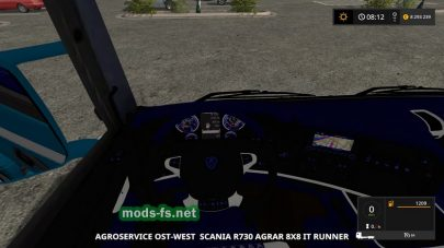 Scania R730 8X8 IT RUNNER mods