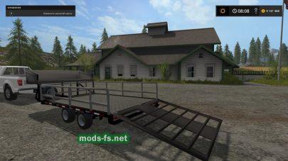 Прицеп для перевозки техник в игре Farming Simulator 2017