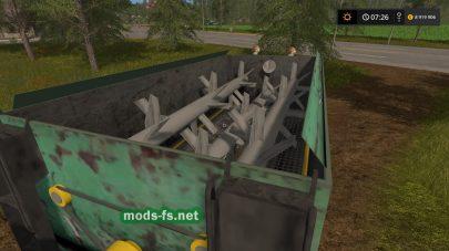 Мод кормораздатчика для игры Farming Simulator 2017