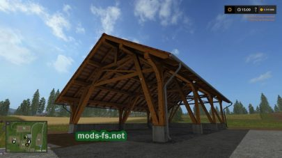 Деревянный амбар для FS 17