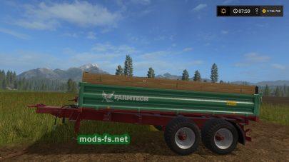 Мод прицепа Farmtech TDK 900