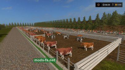 Коровы в игре FS 17