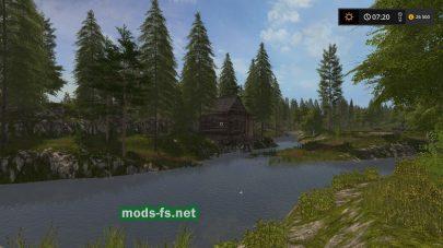 Река на карте Sherwood