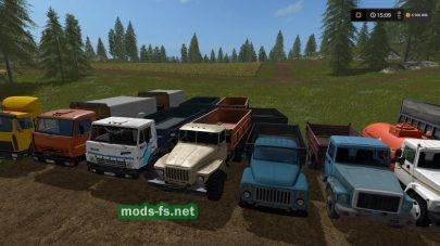 Большой пак грузовиков для FS 2017