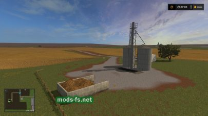 Завод и поля в FS 17