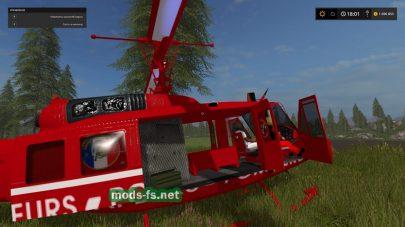 Мод на вертолет Bell UH1D для Farming Simulator 2017