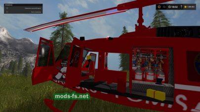Мод пожарного вертолета для FS 2017