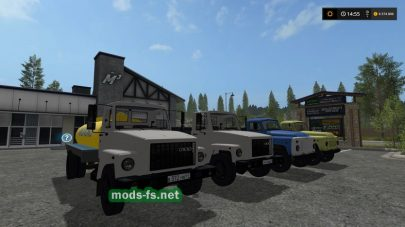 Набор русских грузовиков ГАЗ