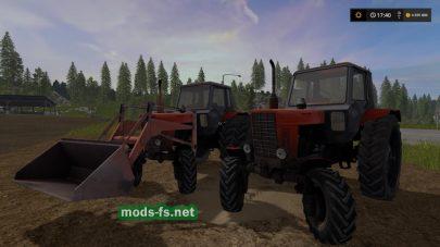Мод из двух тракторов МТЗ