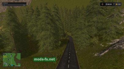Лес на карте Goldcrest Mountains