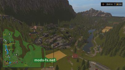 Скриншот карты в игре FS 17