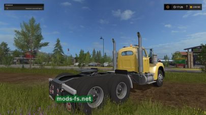 Тягач Mack Truck с прицепом