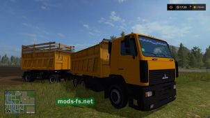 МАЗ-6501 с прицепом для FS 17