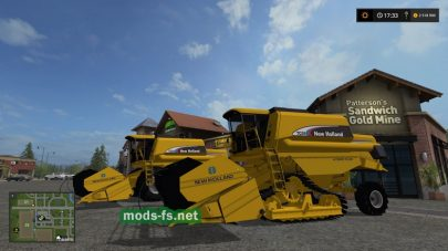 Мод комбайна New Holland