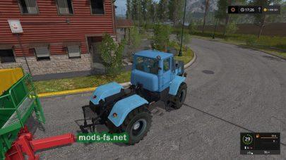 Трактор Т-150К в голубом цвете