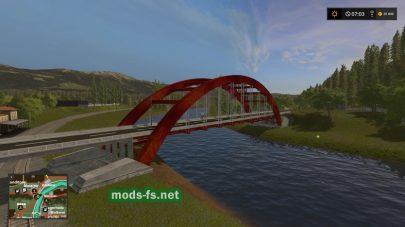 Мост через реку в игре FS 17