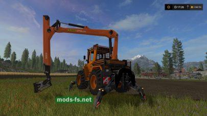 Мод MB TRAC 1000 для погрузки бревен в Farming Simulator 2017