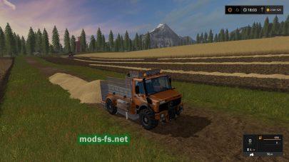 Мод грузовика для уборки соломы