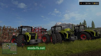 claas xerion with kaweco double twin для игры FS 2017