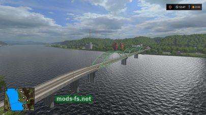 Мост через реку в игре FS 2017