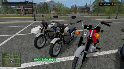 Разные мотоциклы для Farming Simulator 2017