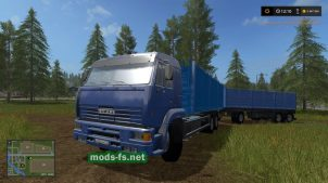 КамАЗ-65117 с прицепом для FS 17