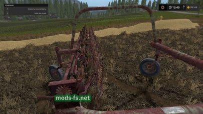 Жатка для уборки сена в игре FS 17