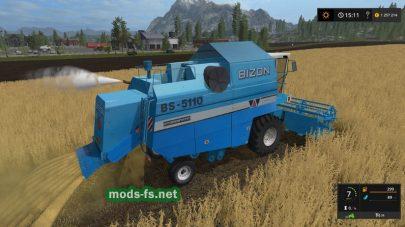 Мод зерноуборочного комбайна BIZON BS-5110