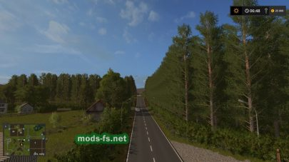 Красива дорога через лес в FS 17