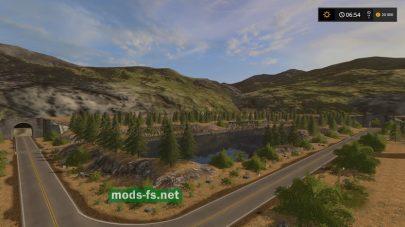 Карта с горами для FS 17