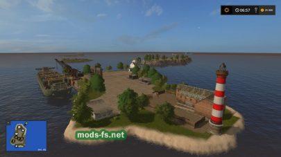 Карта с островами в FS 17