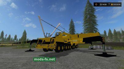 Модификация большого крана Caterpillar Crane