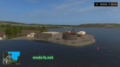 Карта построенная на воде для Farming Simulator 2017