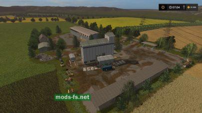 Карта с заводами для игры FS 17