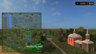 Схема карты «Село Спасское»