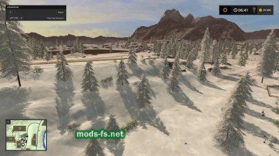 Зимняя карта для Farming Simulator 2017