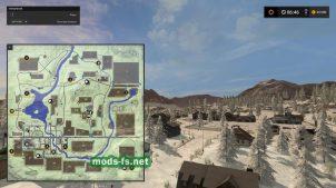 Схема карты Gold Cresty Valley Snow Edition