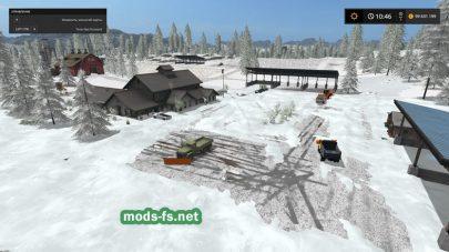 Уборка снега на карте Gold Cresty Valley Snow Edition