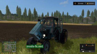 Мод трактора МТЗ 80 с синей кабиной