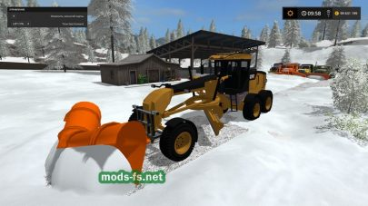 Уборка снега в Farming Simulator 2017