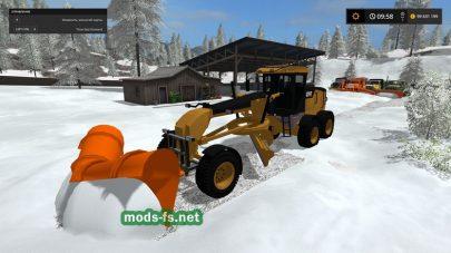 Уборка снега в Farming Simulator 2017