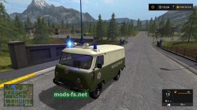 Мод авто UAZ VOLKSPOLIZEI