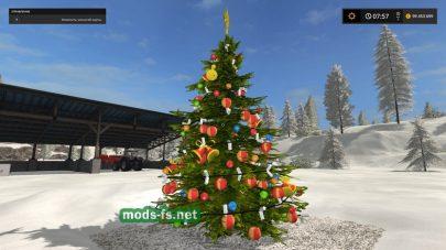 Мод новогодней елки для Farming Simulator 2017